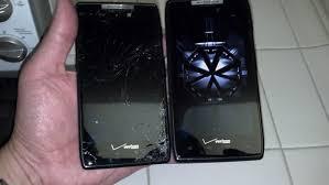 motorola droid razr cracked screen glass repair new lcd repair