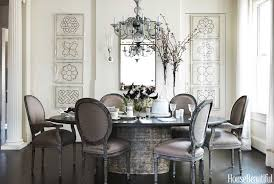 round dining table decor ideas gray dining room round table