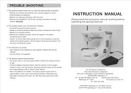euro pro sewing machine 1100h dressmaker pdf instruction manual