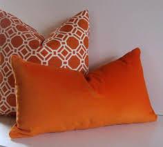 Orange Lumbar Pillow Throw Pillows Decorative Pillows Pillow Couch