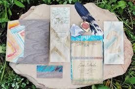 hand painted wood wedding invitations momental designsmomental designs