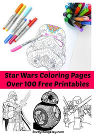 100 star wars free printable coloring pages for both adults and