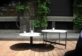 outdoor tables at paola lenti studio milan 2012 de stefano