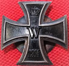 sold ww1 convex screwback german iron cross 1st class for