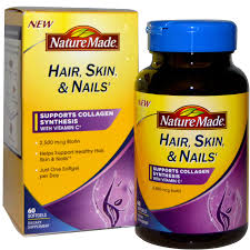 nature made hair skin u0026 nails 60 softgels hair nails and