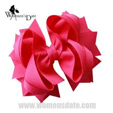 wholesale hairbows womensdate wholesale 4 5 shocking pink solid stacked girl s spike