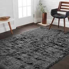 Sheepskin Area Rugs Black Faux Sheepskin Rugs Area Rugs For Less Overstock