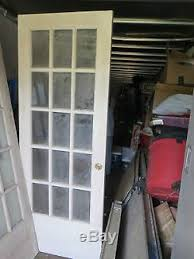 Solid Wood Interior French Doors Vintage Solid Wood 15 Glass Panel Interior French Doors 30 X 79 X 2