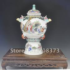 Antique Hand Painted Vases Aliexpress Com Buy Unique Chinese Antique Famille Rose Porcelain