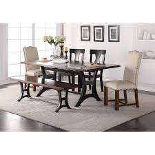 dining room with bench crown mark astor mixed style dining set with bench wayside