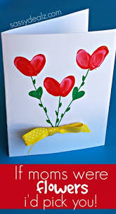 day cards for kids fingerprint flower s day card crafty morning