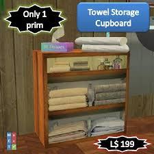 second life marketplace towel storage unit 1 prim
