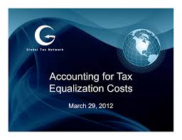 accounting for tax accounting for tax equalization costs