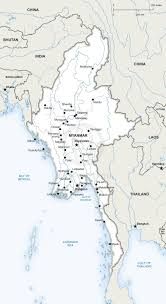 Blank Map Of India Pdf by Vector Map Of Myanmar Political
