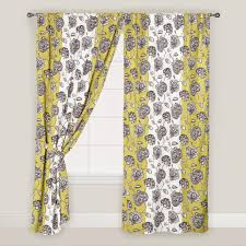 green and white floral daniella curtains set of 2 world market