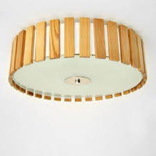 wood flush mount ceiling light drum shaded wood battens designer flush mount ceiling lights