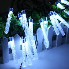 Solar Powered Icicle Lights by 4 8m 0 6w Bubble Icicle Led Fairy Light Solar Power 20 Led String