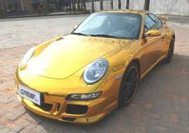 gold porsche 911 porsche 911 4s gets a gold wrap in china luxurylaunches