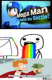 Smash Bros Memes - megaman in smash bros nintendo you magnificent bastard by smaxzo