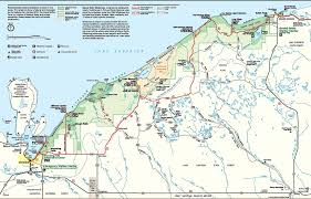Map Of Northern Michigan by Pictured Rocks Lakeshore Trail Michigan Trail Maps