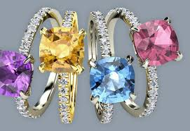 coloured gemstones rings images Engagement rings jpg