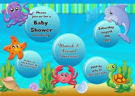 underwater baby shower invitations gallery invitation design ideas