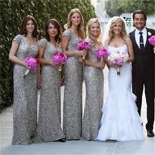 silver bridesmaid dresses sleeve beaded sequins grey bridesmaid dresses v neck