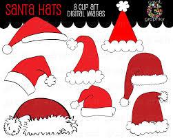 santa clipart digital clip art santa hat digital download
