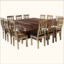 rustic square dining table dallas ranch large square dining table chair set for 12 people