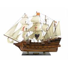 handcrafted nautical decor wooden spanish galleon tall model