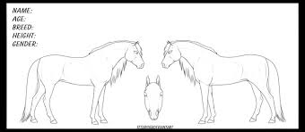 ref sheets templates on equinelineart deviantart