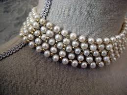 pearl necklace chokers images Marina j woven pearl gold choker necklace at 1stdibs jpg