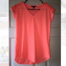 neon blouse 60 express tops barely used xs express neon coral blouse