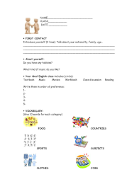 to know your students a fun diagnostic test