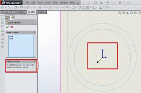 tutorial sketch blocks in solidworks 3d engineer