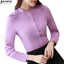 lavender blouses ol fashion career sleeve blouse business temperament