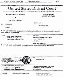 federal subpoena united states district court