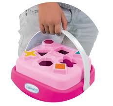 Smoby Nafukovací Křeslo S Didaktickým Smoby Vkládací Košík Cotoons 110406 2 Růžový Hračky Pro Děti Smoby