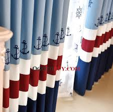 blue and red kids curtains classic mediterranean window panels