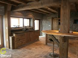 meuble cuisine en bois brut cuisine bois brossé le bois chez vous