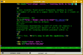 Count No Of Words In Unix Vim Word Count And Useful Status Line