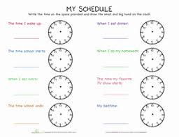 telling time my day telling time math worksheets and worksheets