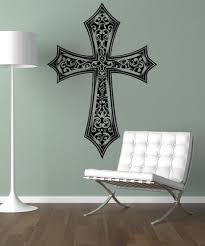 vinyl wall decal sticker detailed cross 1495