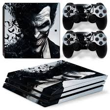 playstation 4 design ps4 pro playstation 4 pro console skin decal sticker the joker