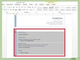 Lebenslauf Muster Ms Word Wie In Word Einen Lebenslauf Erstellt Wikihow