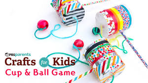 diy toy cup u0026 ball game pbs parents crafts for kids youtube