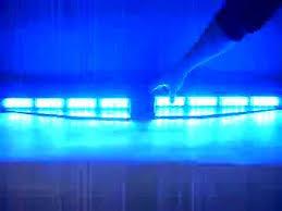 Car Interior Blue Lights Fire Ambulance Police Vehicle Exclusive Split 2x16 Led 3w Visor