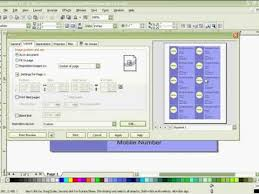 Business Card Printing Software Printing Business Card In Coreldraw X3 Youtube