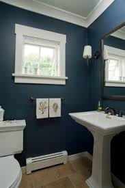 blue bathroom love the color blue in this bathroom contrasting with the white