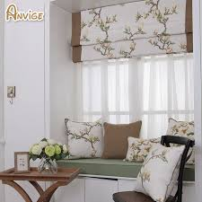 Cotton Roller Blinds Aliexpress Com Buy Natural Pastoral Style Cotton Fabric Roman